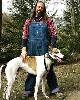 Obligatory me and the dee-oh-gee #Cane #DogsOfInstagram #greyhound #ChestnutRidge #wny #OrchardPark #overalls #Dickies #vintage #bluedenim