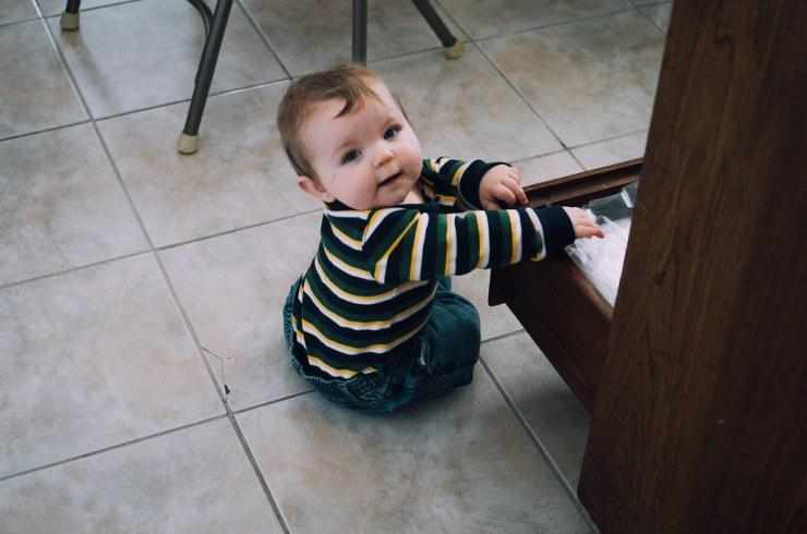 Ezra getting into Drawers