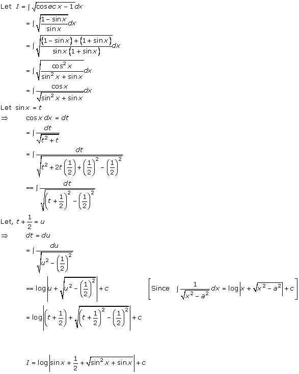 RD Sharma Class 12 Solutions Chapter 19 Indefinite Integrals Ex 19.13 Q16