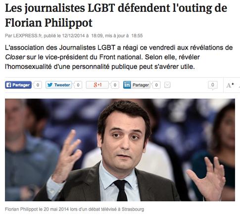 14l12 LExpress Les journalistes LGBT défendent l'outing de Florian Philippot