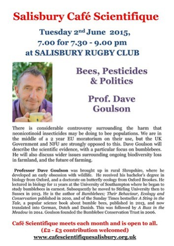 Poster for Prof. Dave Goulson