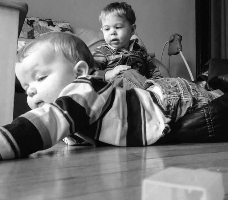 Ezra on the Floor