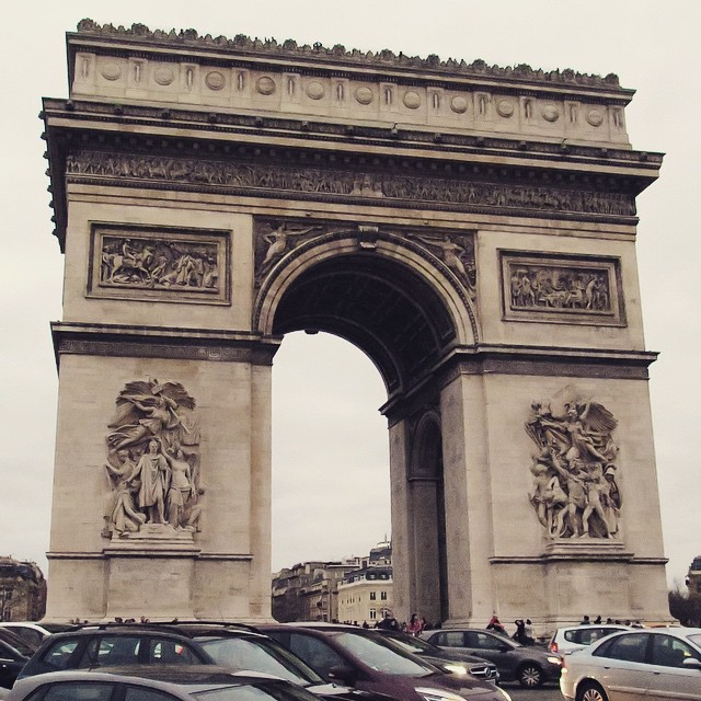 Paris Day One: Arc de Triomphe.