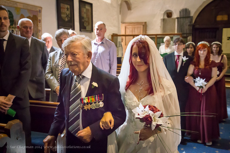 My Dad walking me down the aisle.
