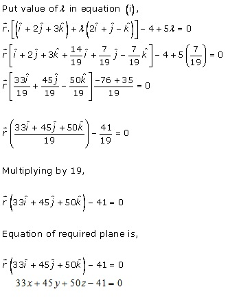 RD Sharma Class 12 Solutions Chapter 29 The Plane 29.7 Q12-i