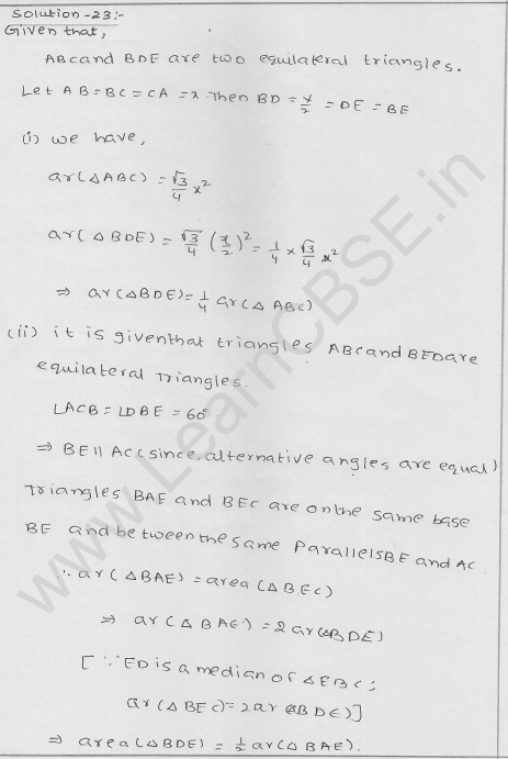 RD Sharma Class 9 solutions Chapter 15 Areas of parrallelograms and Triangles Ex 15.3 25