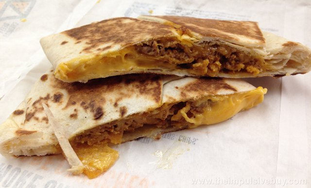 Taco Bell Beefy Cheddar Crunchwrap Slider