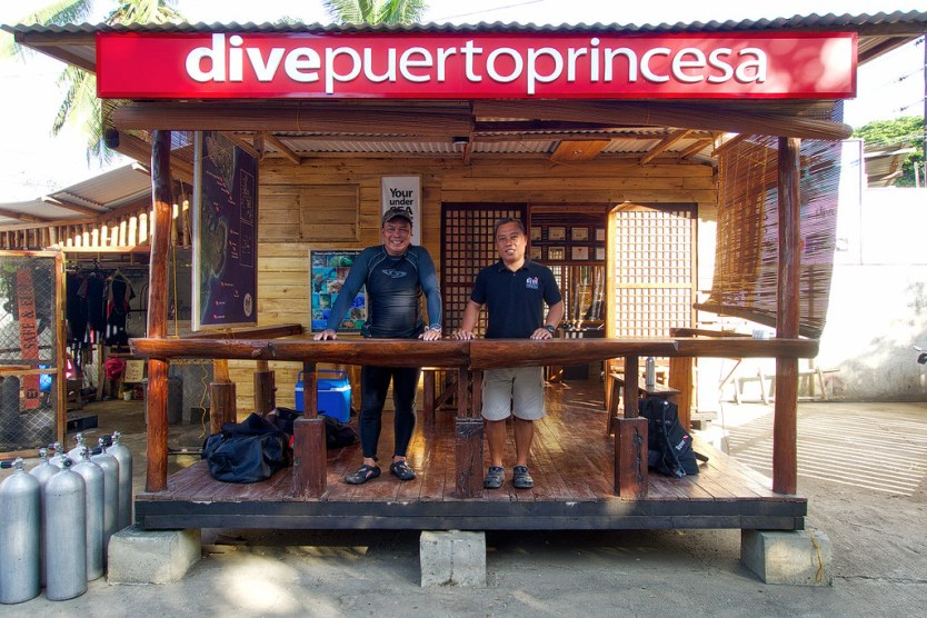 Our Divemaster Nap and Romel - Scuba Time Dive Puerto Princesa Dive Center.
