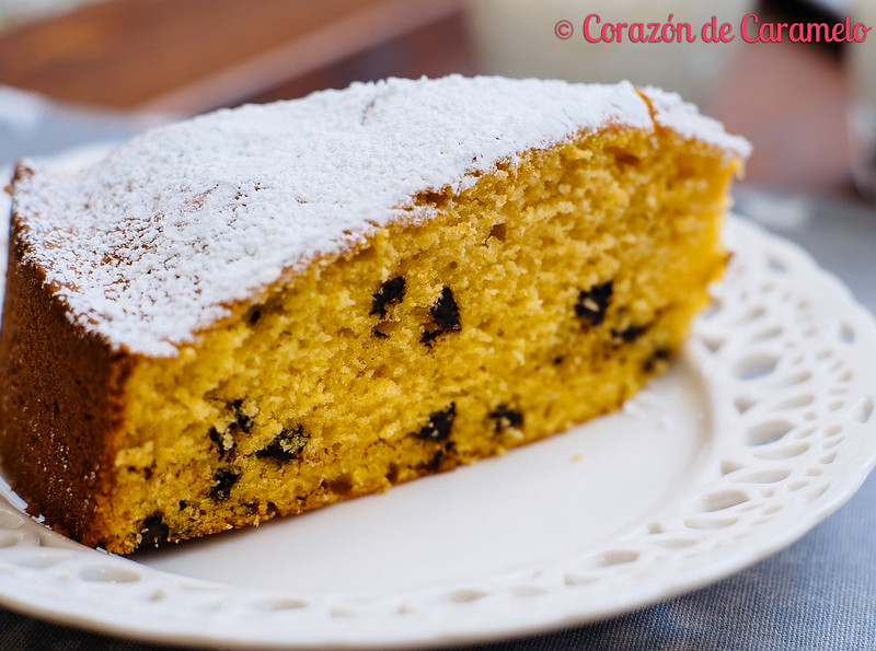 Bizcocho de calabaza con pepitas de chocolate for Corazon de caramelo