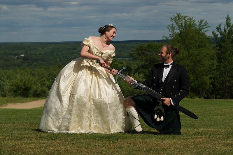 Offbeat bride viking wedding dress