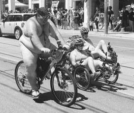 Naked Bike Ride in Toronto. 11 June 2016