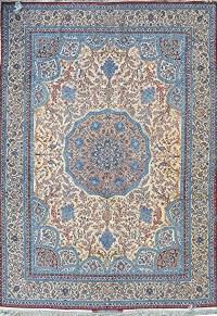 Aalighapo Grand master Ahmad Seirafian Silk Persian Rug ...