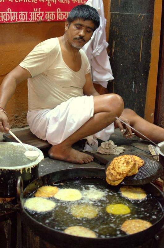 Halwai making the lovely Maal Pua in Pushkar, Must have thing.