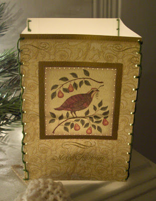 Christmas Card Luminary