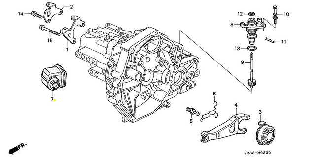 Genuine Honda Civic CR-V Del Sol Integra Clutch Release