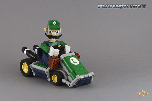 Luigi on his Classic kart - MarioKart