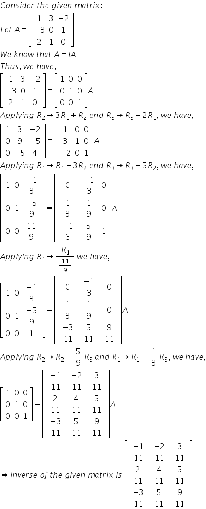 RD Sharma Class 12 Solutions Chapter 7 Adjoint and Inverse