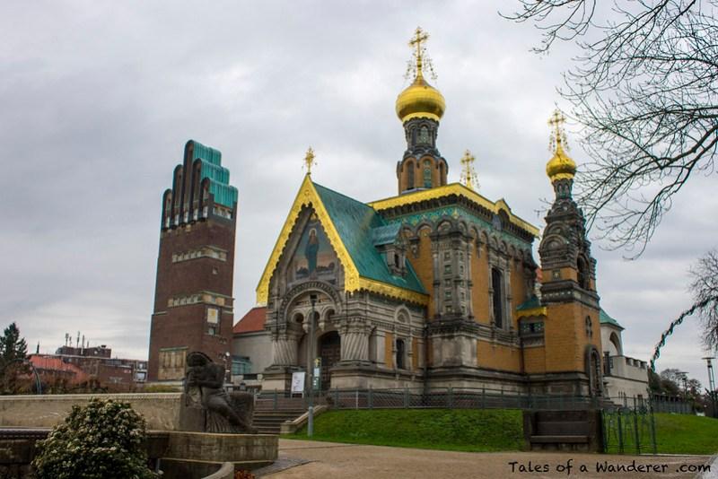 DARMSTADT - Hochzeitsturm / Russische Kapelle