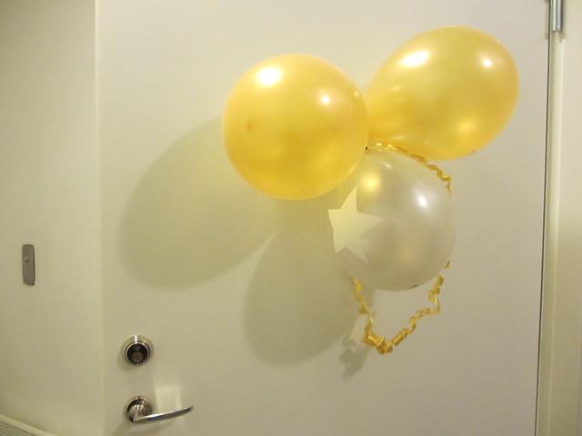 Ballonger på dörren = ett måste