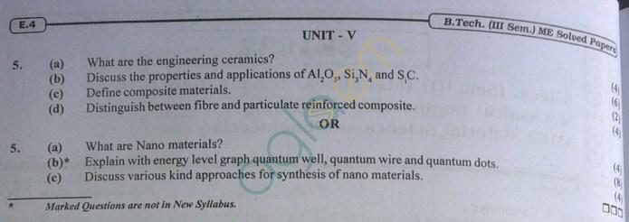 RTU: Question Papers 2014 - 3 Semester - ME - 3E1632