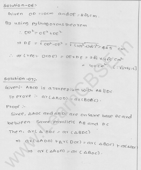 RD Sharma Class 9 solutions Chapter 15 Areas of parrallelograms and Triangles Ex 15.3 4
