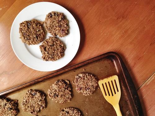 breakfast cookies cooling