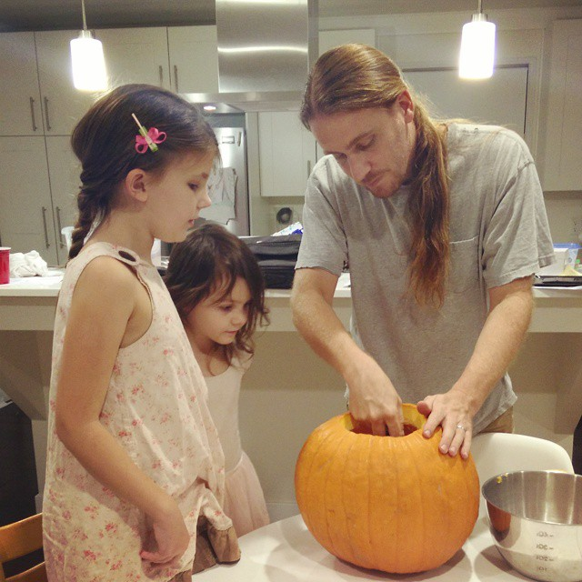 Pumpkin carving is serious business... ;-)
