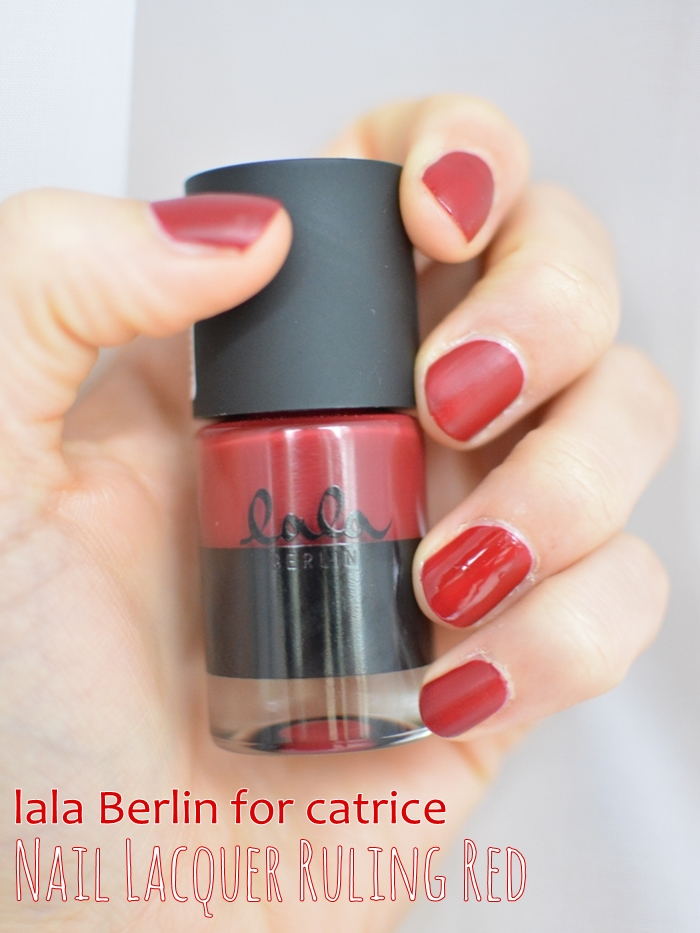 lala Berlin for catrice 07 nail laquer ruling red