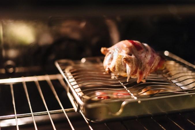 Gebraden duif: 15 à 20 minuten in hete oven op rooster
