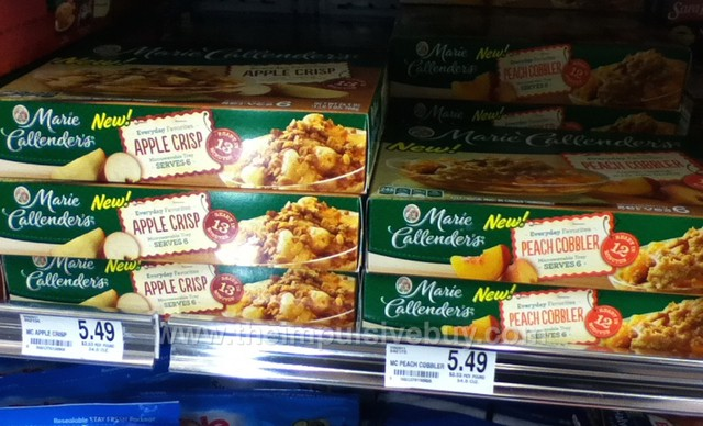 Marie Callender's Everyday Favorites Apple Crisp and Peach Cobbler