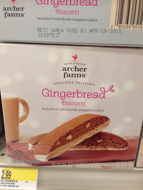 Archer Farms Holiday Edition Gingerbread Biscotti