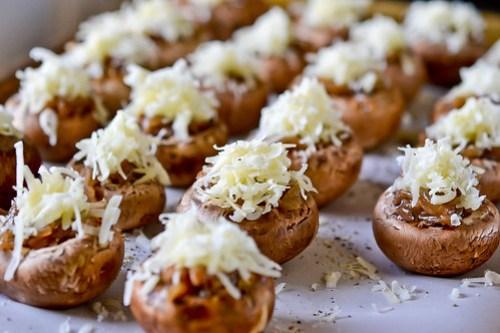 French Onion Soup Stuffed Mushrooms-10