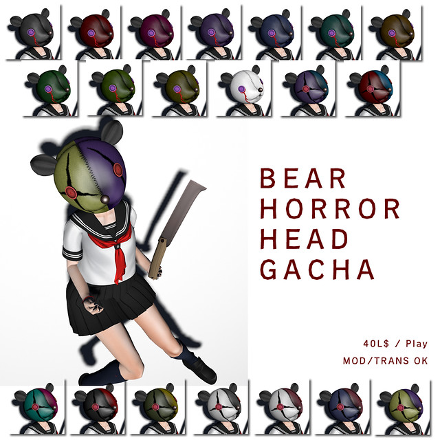 *N*BEAR HORROR HEAD GACHA
