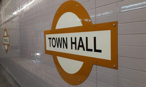 Town Hall Station Signage 14 November 2014