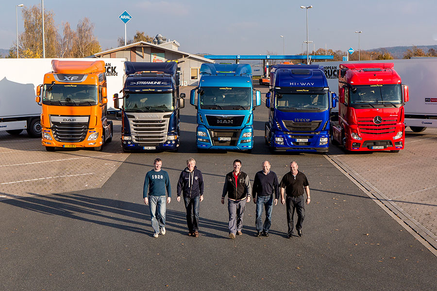 Команда водителей на European Truck Challenge 2014