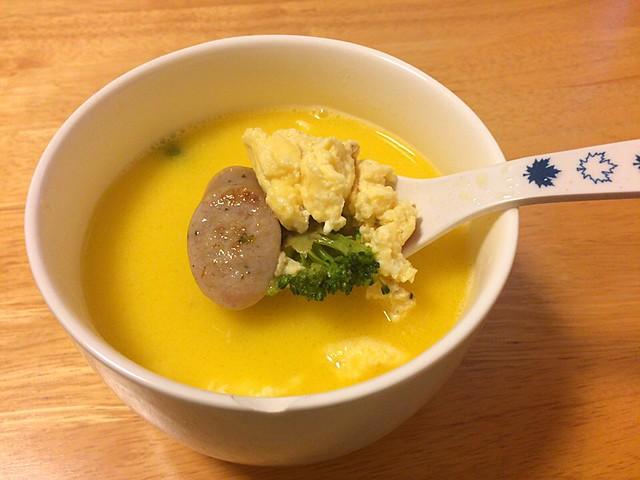 味噌バタークリームスープ