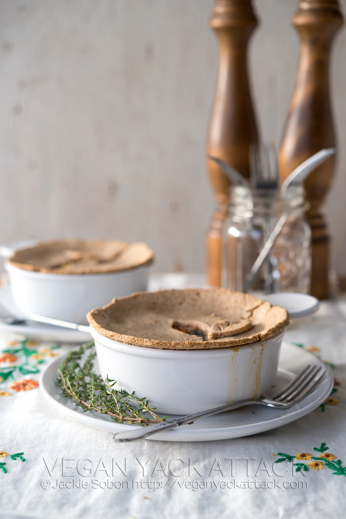Delicious, gluten-free, plant-based, SUPER-VEGGIE Pot Pies fromYum Universe by Heather Crosby!