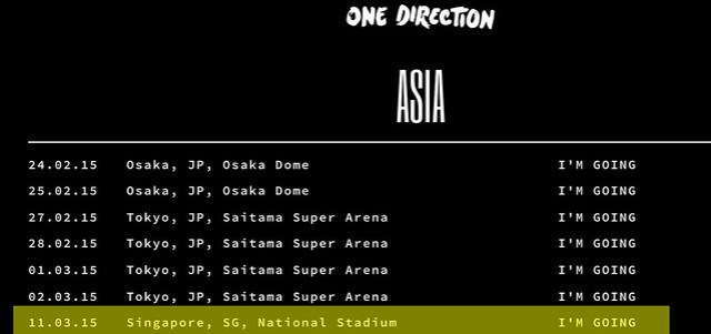 One direction singapore