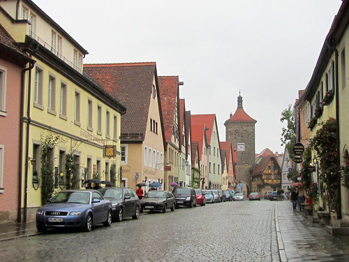 Street and Gate in Rothenburg