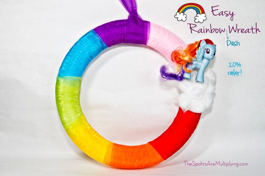 Easy Rainbow Dash Wreath