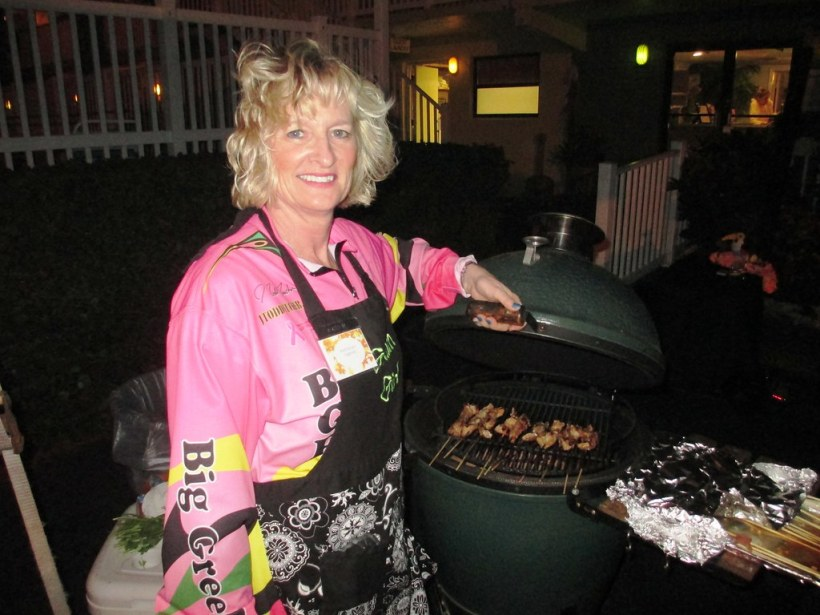 Dinner Cooked on a Big Green Egg - Tuckaway Shores Resort, Indialantic, Florida's Space Coast, Nov. 7, 2014