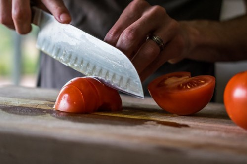chopped tomatoes add flavor and a burst of color