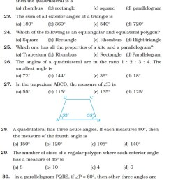 Class 8 Important Questions for Maths – Understanding Quadrilaterals and  Practical Geometry   AglaSem Schools [ 5686 x 629 Pixel ]