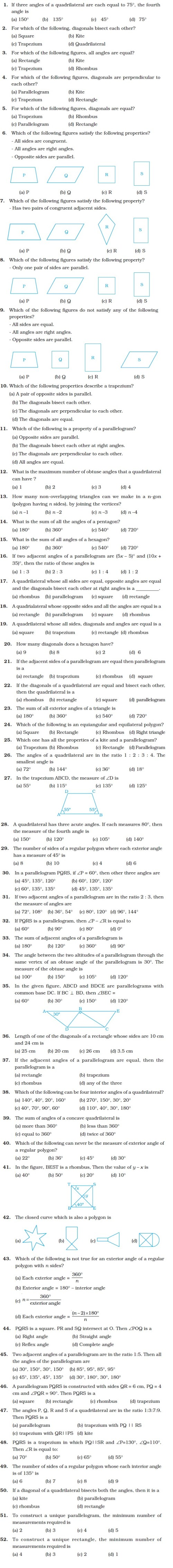small resolution of Class 8 Important Questions for Maths – Understanding Quadrilaterals and  Practical Geometry   AglaSem Schools