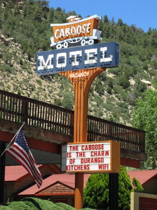 Caboose Motel - 3363 Main Avenue, Durango, Colorado U.S.A. - June 20, 2014