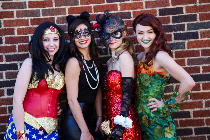 WEDDING 221 - Copy  sc 1 st  Offbeat Bride & Alison u0026 Ryanu0027s superhero vs. villains costume party wedding ...