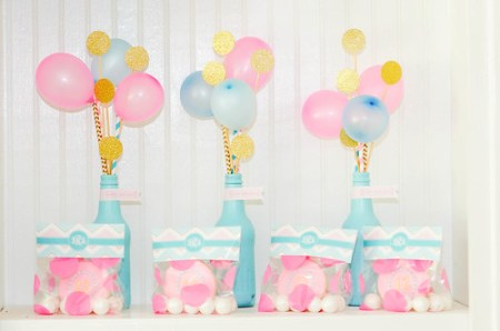 blue pink baby shower decorative favors