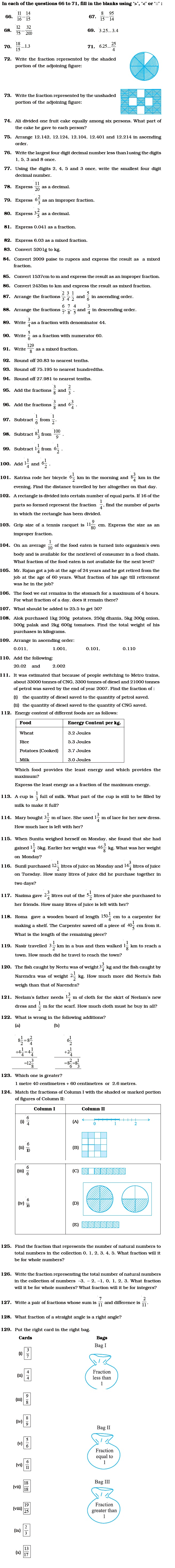 hight resolution of Class 6 Important Questions for Maths – Fractions and Decimals   AglaSem  Schools