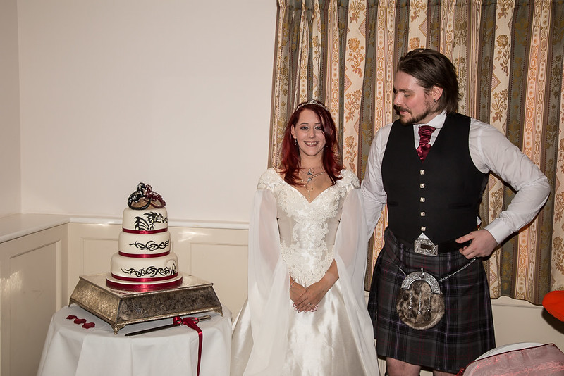 Me, my husband and the cake