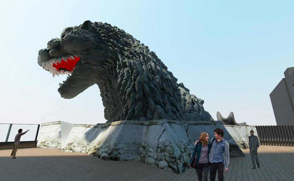 Godzilla Head - Toho Cinemas Shinujuku
